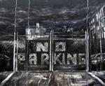 no parking huile sur toile