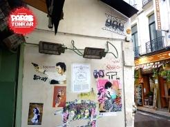 Collage à Paris en juillet 2014