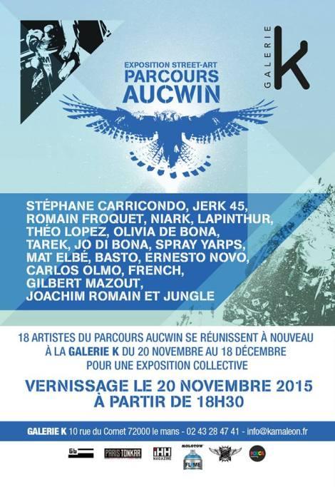 Exposition Le Parcours Aucwin à la GalerieK
